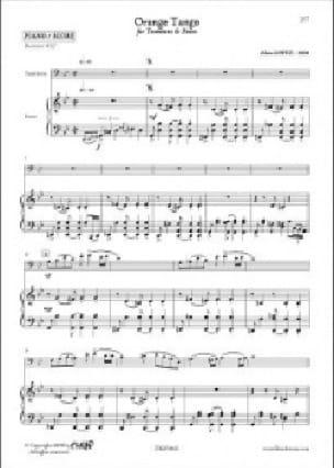 Orange Tango - Alain Lopez - Partition - Trombone - laflutedepan.com