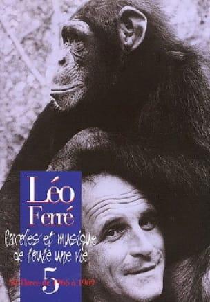 Paroles Et Musiques de Toute Une Vie Volume 5 1966-69 - laflutedepan.com