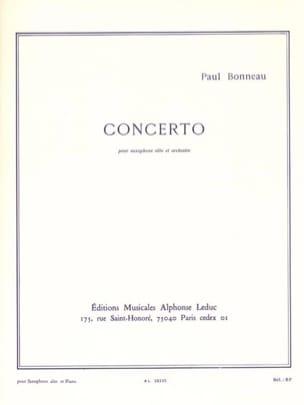 Concerto Paul Bonneau Partition Saxophone - laflutedepan