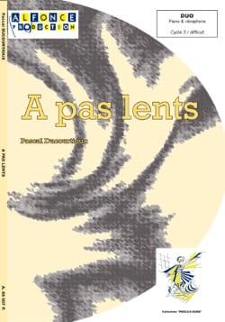 A Pas Lents Pascal Ducourtioux Partition Vibraphone - laflutedepan