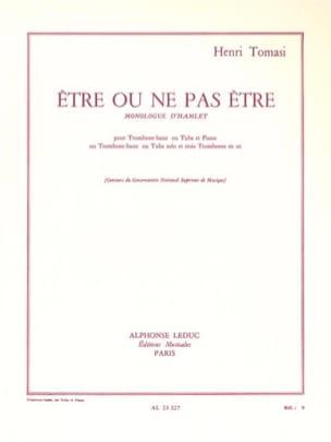 Etre ou Ne Pas Etre - TOMASI - Partition - Trombone - laflutedepan.com