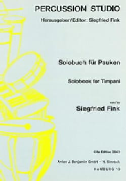 Solobook For Timpani Volume 2 Siegfried Fink Partition laflutedepan