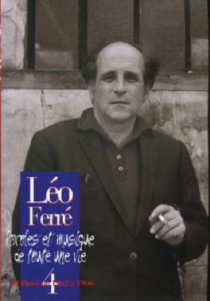 Paroles Et Musiques de Toute Une Vie Volume 4 1962-66 - laflutedepan.com