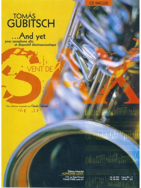 And Yet - Thomas Gubitsch - Partition - Saxophone - laflutedepan.com