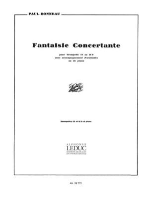 Fantaisie Concertante Paul Bonneau Partition Trompette - laflutedepan
