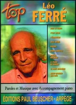 Top Léo Ferré Léo Ferré Partition Chanson française - laflutedepan