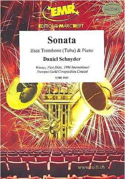 Sonata Daniel Schnyder Partition Trombone - laflutedepan
