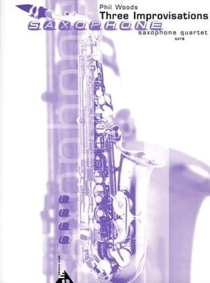 Three Improvisations Phil Woods Partition Saxophone - laflutedepan