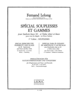 Spécial Souplesses Et Gammes Volume 1 - Souplesses Lelong laflutedepan
