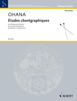 Etudes Chorégraphiques 6 Spieler Maurice Ohana Partition laflutedepan