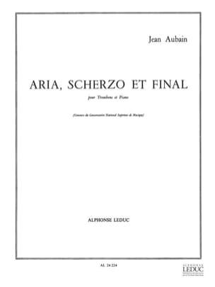 Aria Scherzo Et Final Jean Aubain Partition Trombone - laflutedepan