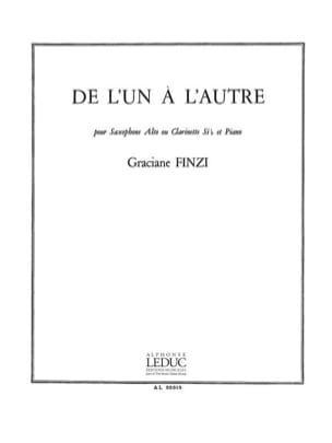 De L'Un A L'Autre Graciane Finzi Partition Saxophone - laflutedepan