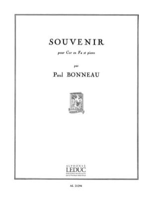 Souvenir Paul Bonneau Partition Cor - laflutedepan