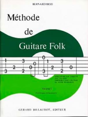 Méthode de Guitare Folk Volume 1 - Bernard Bigo - laflutedepan.com