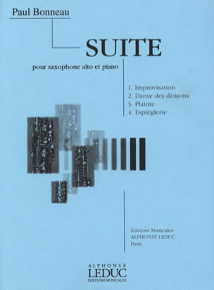 Suite Paul Bonneau Partition Saxophone - laflutedepan