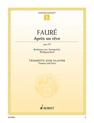 Après un rêve, op. 7/1 FAURÉ Partition Trompette - laflutedepan