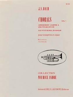 Chorals Volume 1 BACH Partition Trompette - laflutedepan