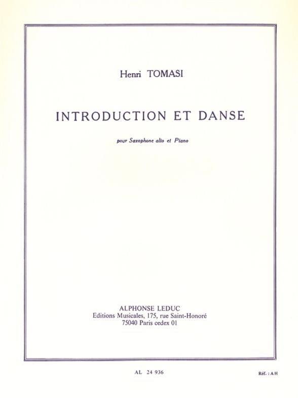 Introduction Et Danse - TOMASI - Partition - laflutedepan.com