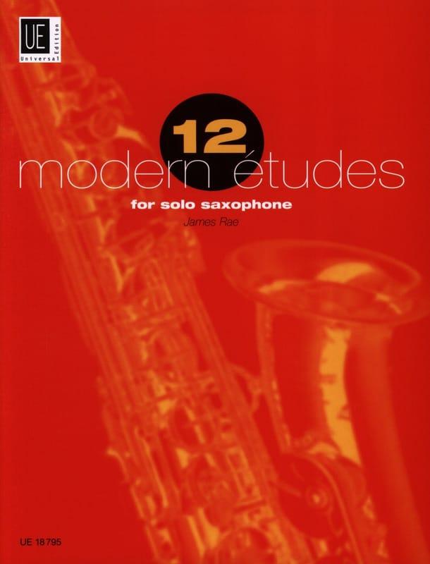 12 Modern études - James Rae - Partition - laflutedepan.com