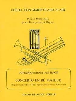 Concerto En Ré Majeur BACH Partition Trompette - laflutedepan