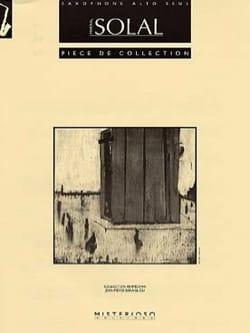 Pièce de Collection Martial Solal Partition Saxophone - laflutedepan