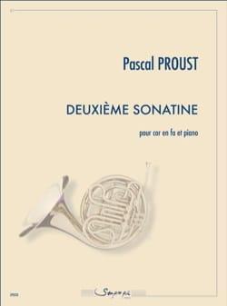 Deuxième Sonatine Pascal Proust Partition Cor - laflutedepan