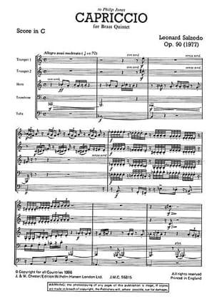 Capriccio Opus 90 - Just Brass N° 54 Leonard Salzedo laflutedepan