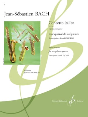 Concerto Italien BWV 971 BACH Partition Saxophone - laflutedepan