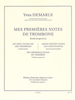 Mes Premières Notes de Trombone Yves Demarle Partition laflutedepan