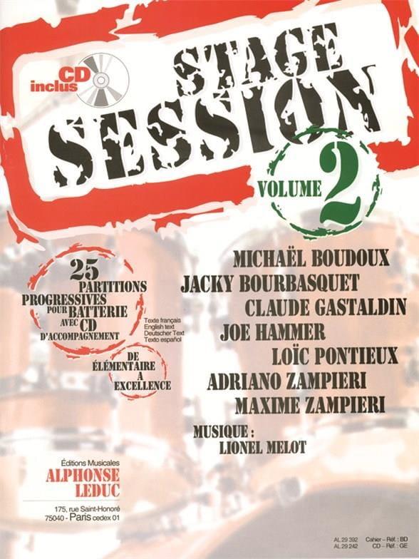 Stage Session Volume 2 - Partition - Batterie - laflutedepan.com