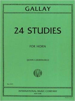 24 Studies For Horn Jacques-François Gallay Partition laflutedepan
