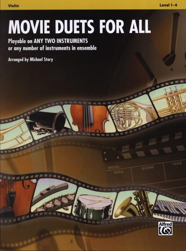 Movie duets for all - Partition - Violon - laflutedepan.com