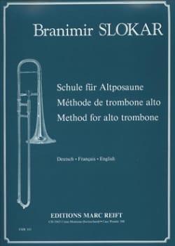 Méthode de Trombone Alto Branimir Slokar Partition laflutedepan