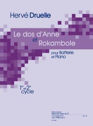 Le Dos D' Anne Et Rokambole Hervé Druelle Partition laflutedepan
