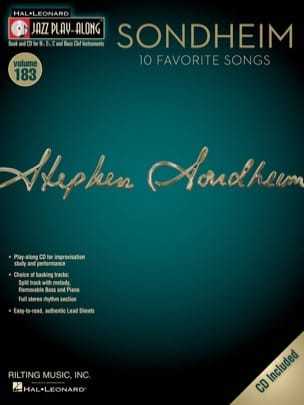 Jazz Play-Along Volume 183 - Sondheim - laflutedepan.com