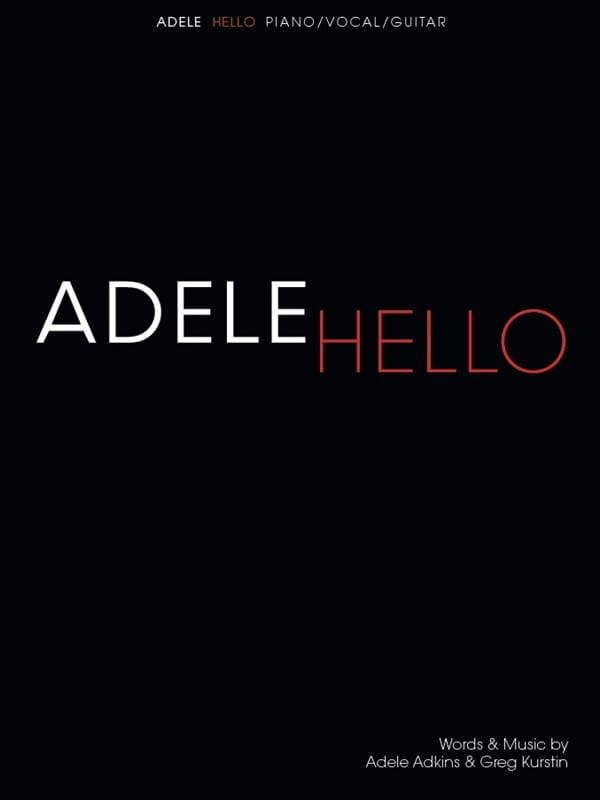 Hello - Adele - Partition - Pop / Rock - laflutedepan.com