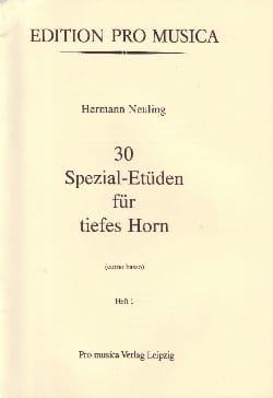 30 Spezial-Etüden Volume 1 Hermann Neuling Partition laflutedepan