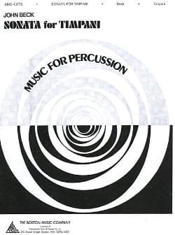 Sonata For Timpani John Beck Partition Timbales - laflutedepan