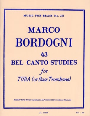 43 Bel Canto Studies Marco Bordogni Partition Tuba - laflutedepan