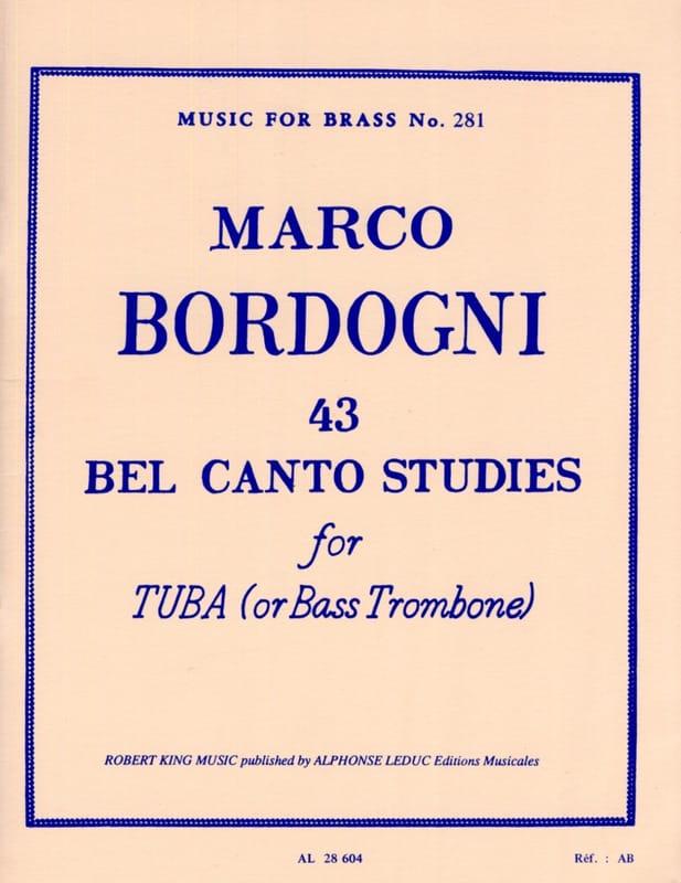 43 Bel Canto Studies - Marco Bordogni - Partition - laflutedepan.com