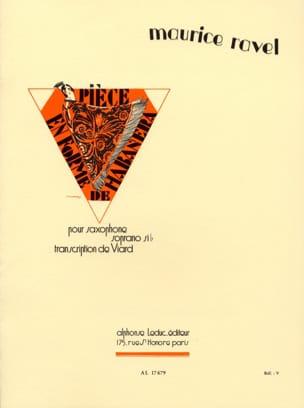 Pièce En Forme de Habanera RAVEL Partition Saxophone - laflutedepan