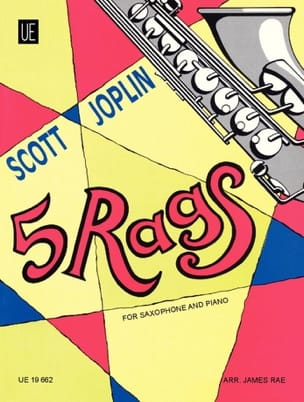 5 Rags JOPLIN Partition Saxophone - laflutedepan