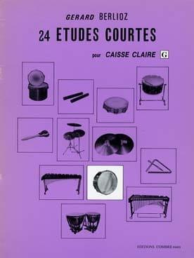 Gérard Berlioz - 24 Short Studies Volume G - Partition - di-arezzo.com