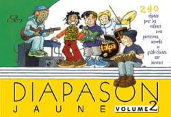 Diapason Jaune - Volume 2 Partition Chanson française - laflutedepan
