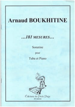 181 Mesures... Sonatine - Arnaud Boukhitine - laflutedepan.com