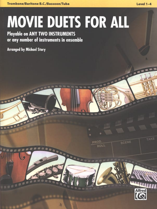 Movie duets for all - Partition - Trombone - laflutedepan.com