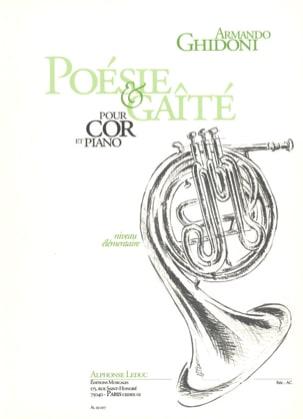 Poésie & Gaîté Armando Ghidoni Partition Cor - laflutedepan