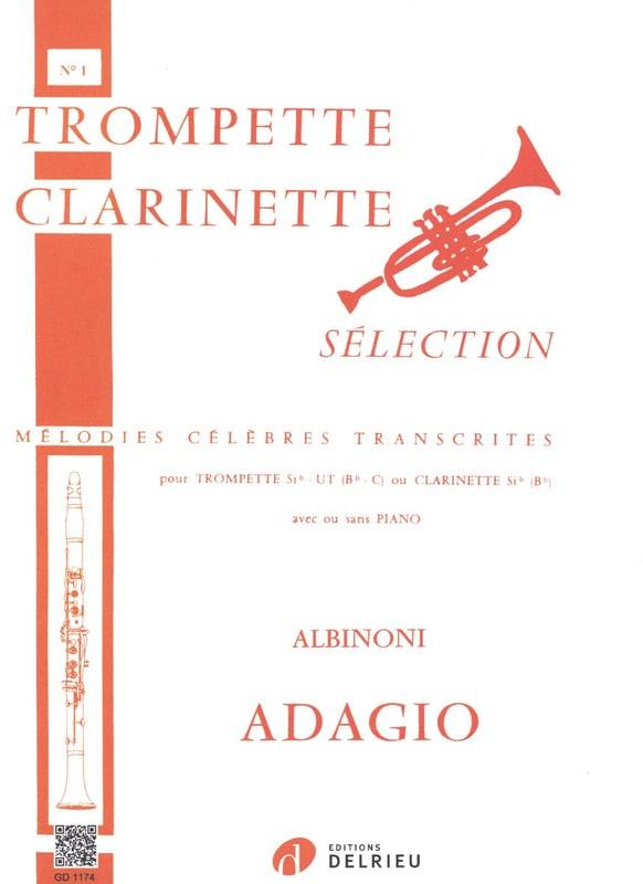 Adagio - ALBINONI - Partition - Trompette - laflutedepan.com