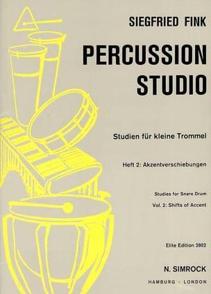 Siegfried Fink - Studies For Snare Trommel Drum Volume 2 - Partition - di-arezzo.co.uk