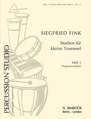 Siegfried Fink - Studies For Snare Trommel Drum Volume 3 - Partition - di-arezzo.co.uk